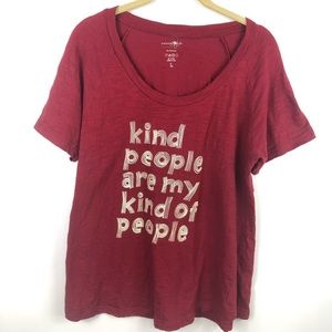 Natural Life Deep Red Graphic T-Shirt